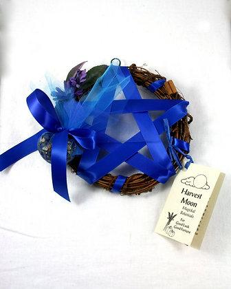 Harvest Moon Pentacle Sm. Wreath:Good Luck-Wealth