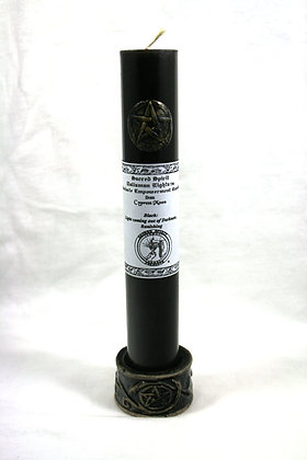 """9"""" Black Pentacle Empowerment Candle"""