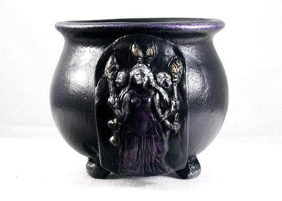 Hecate Triformis Altar Cauldron