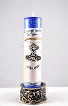 Thor's Hammer Talisman Lights™ Amulet Candle
