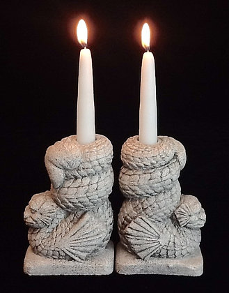 "Gothic Traditions ""Coiled Winged Serpent"" Candleholder"