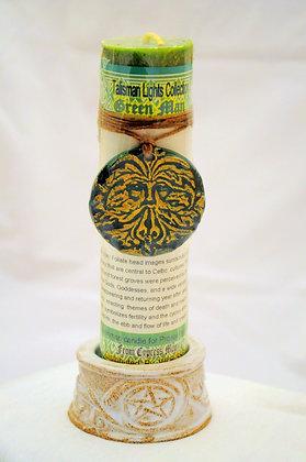 Green Man Talisman Lights™ Amulet Pillar Candle
