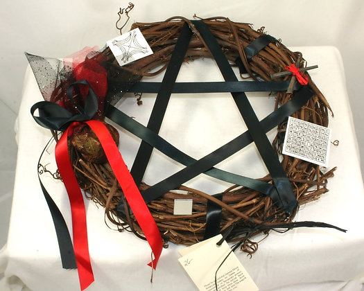 Harvest Moon Pentacle Wreath: Protection - Defense