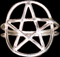 Magi Sterling Silver Pentacle Ring