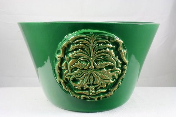 Extra Large Green Man Offering Bowl