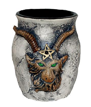 Baphomet Head Altar Vase