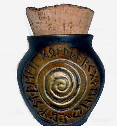 Rune Wheel Corked Treasure Jar