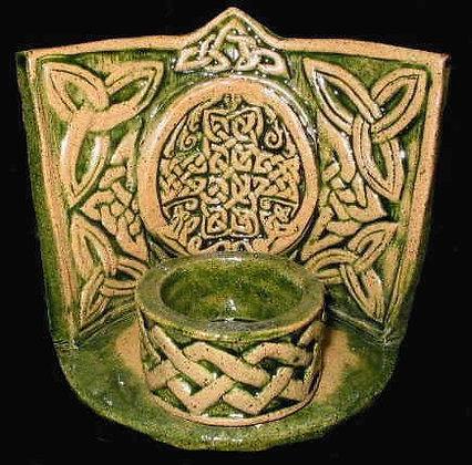 Knotwork Cross Altar Shrine withTea Light Votive