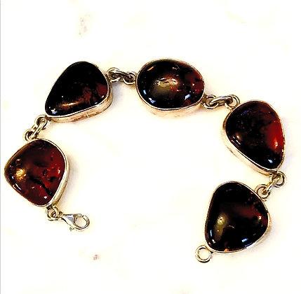 Baltic Amber Sterling Silver Bracelet