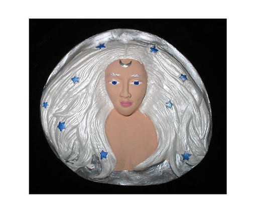 Diana Moon Goddess Plaque