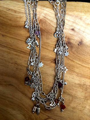 Set of 4 Sterling Silver Anklets
