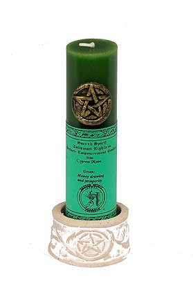 """6"""" Green Pentacle Empowerment Candle"""
