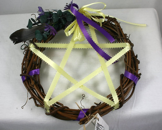 Harvest Moon Elemental Air Pentacle Wreath