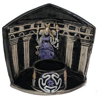 Hekate Triformis Altar Shrine w. Tea Light Votive