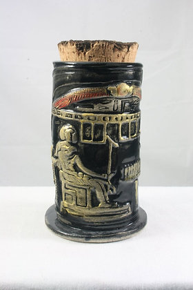 Winged Disk Corked Vessel