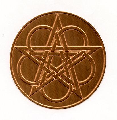 Celtic Knotwork Copper Altar Pentacle