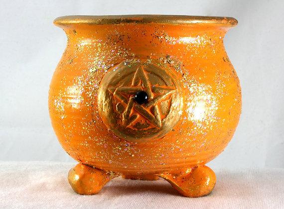 Sparkle Gemstone Pentacle Altar Cauldron