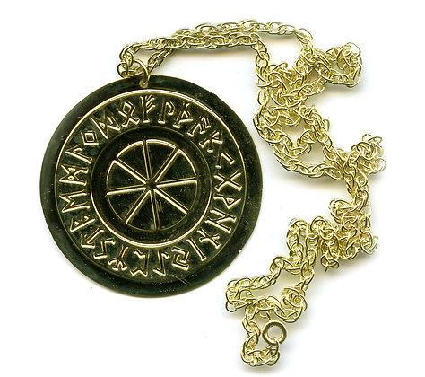 "2"" Rune Wheel Talisman Pendant"