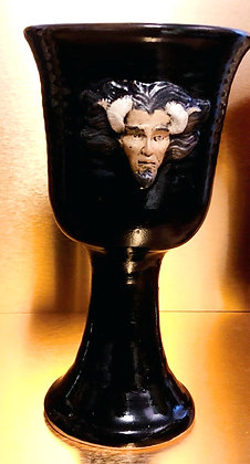 Stoneware Horned & Antler God Chalice