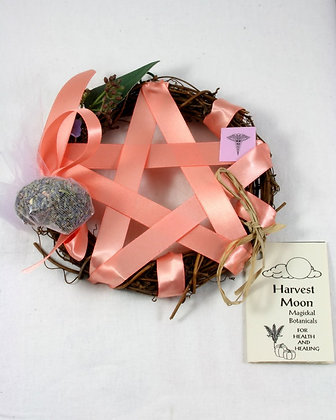 Harvest Moon Pentacle Sm. Wreath: Healing-Wellness