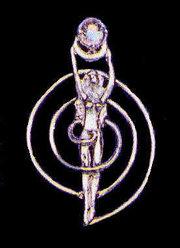 Spiral Goddess Sterling Silver Gemstone Pendant