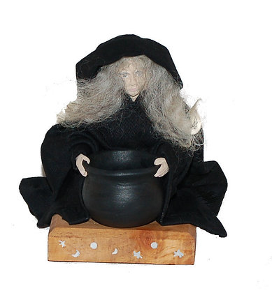 Crone with Cauldron