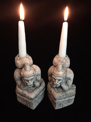 """Gothic Traditions """"Le Penseur"""" Candleholders"""