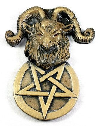 Inverted Pentacle Goat Plaque