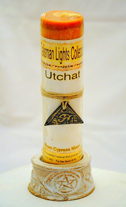 Utchat Talisman Lights™ Amulet Pillar Candle