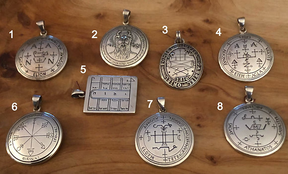 """Sterling Silver Talismans Solomonic & """"The Grimoire of Armadel"""""""