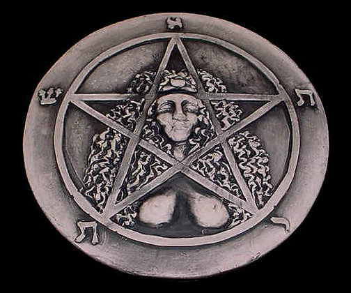 Goddess Astarte Pentacle Plaque