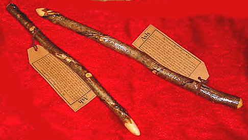 """The Cantium Double Dryad Live Wood Ash Wand 15"""""""