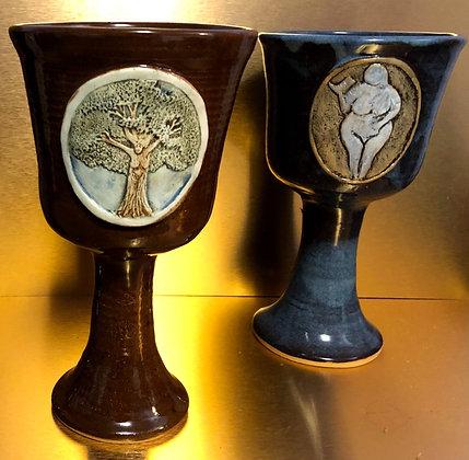 Stoneware Goddess Chalice