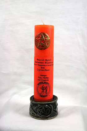 "6"" Orange Pentacle Empowerment Candle"