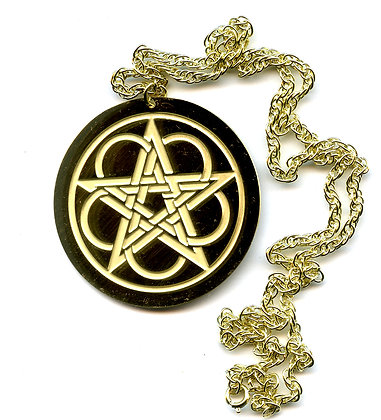 Knotwork Pentacle Talisman Pendant
