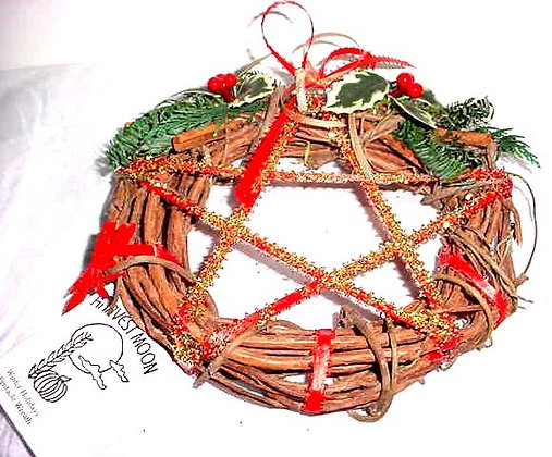 Harvest Moon Winter Magicks Pentacle Wreath