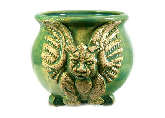 Green Gargoyle Altar Cauldron