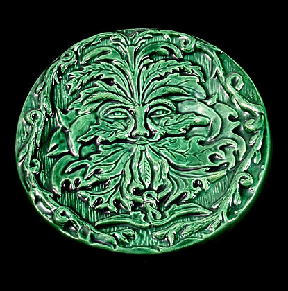 Emerald Green Man Altar Disk