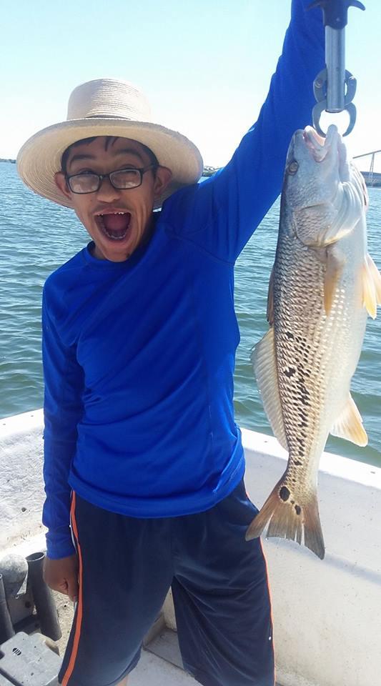 Redfish caught on Calaveras Lake, Texas