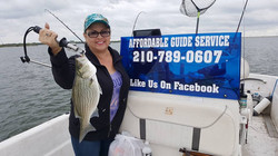WHITE BASS FISHING TRIPS AT CHOKE CANYON, TEXAS