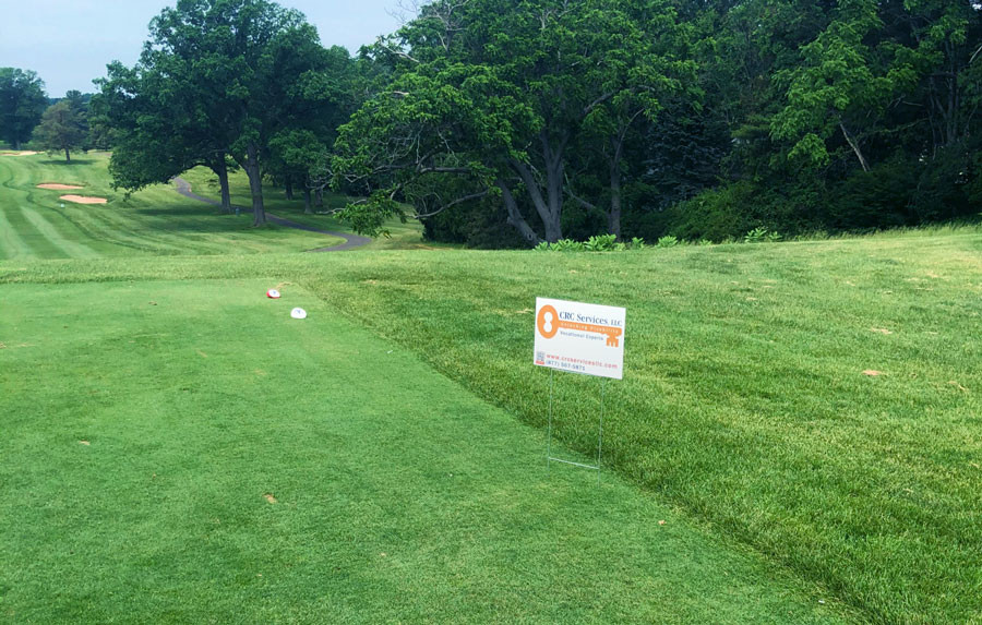CRC Signs at The HCBA Golf Tournament at Wethersfield Country Club