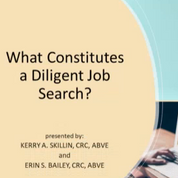 What Constitutes a Diligent Job Search?