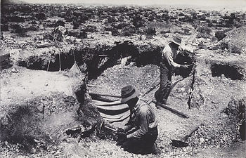 the first diggings at the Rainbow Ridge Mine, 1913