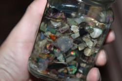 Jar of Opals dugs in Virgin Valley
