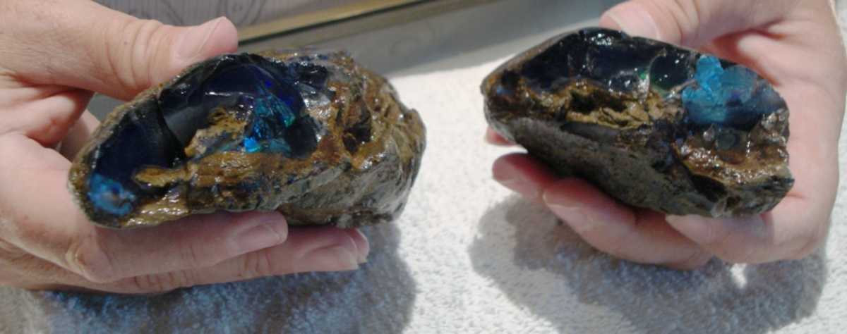 Royal Peacock Black Opals