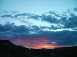 Beautiful Virgin Valley sunset