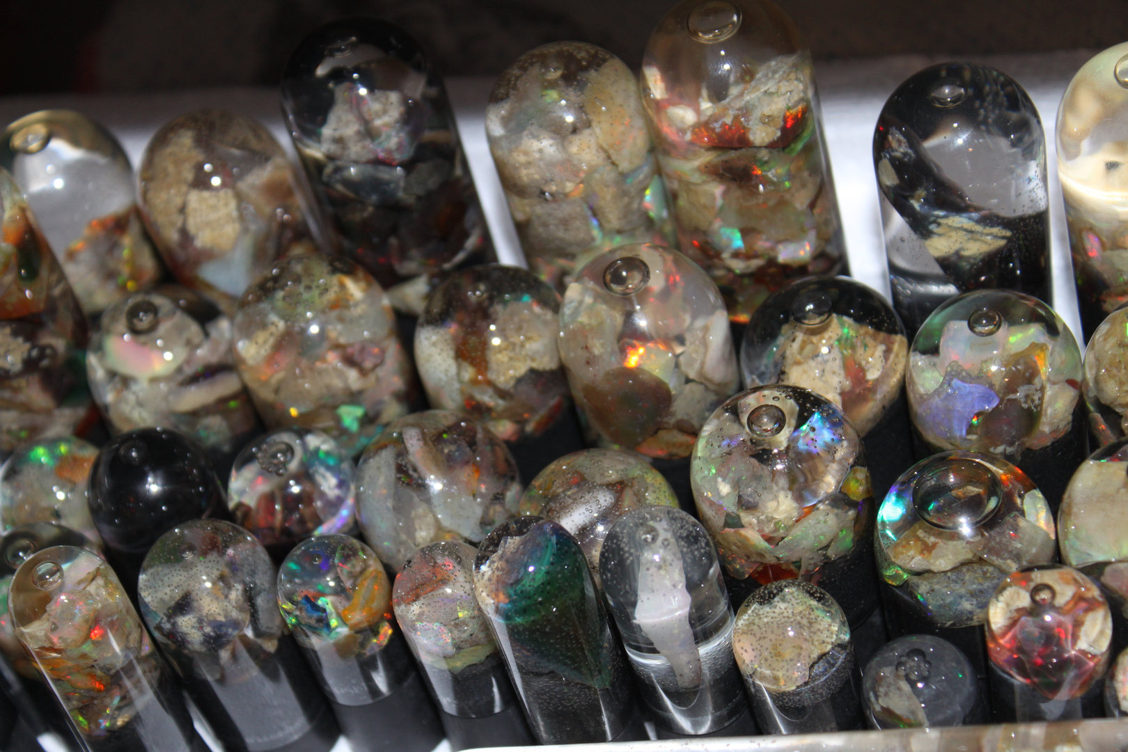 Virgin Valley Nevada Opal wet domes