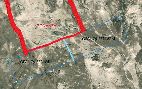 50% ownership of Opal Queen #1-2 LMC, 41+ac, Virgin Valley NV