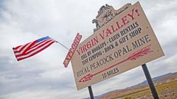 Turn here @ Virgin Valley Opal Mines