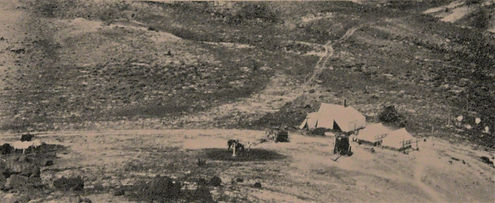 Dow (Bonanza Opal) Mine Camp, ca 1915, on current Opal Queen Mine site